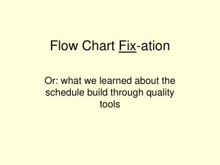 Flow Chart  Fix -ation