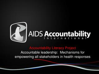 Accountability Literacy Project