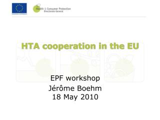HTA cooperation in the EU