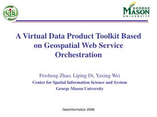 A Virtual Data Product Toolkit Based on Geospatial Web Service Orchestration