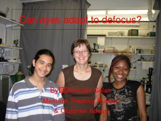 Can eyes adapt to defocus?