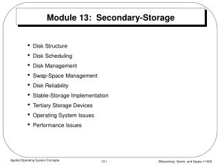 Module 13:  Secondary-Storage