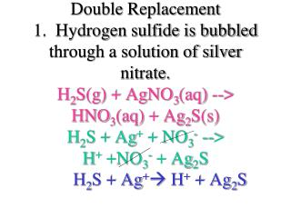3.  Solutions of sodium iodide and lead nitrate are mixed. I -  + Pb 2+    PbI 2