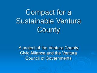Compact for a Sustainable Ventura County