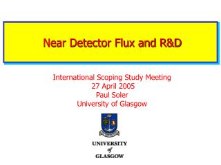 Near Detector Flux and R&D