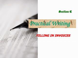 FILLING IN INVOICES