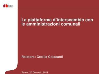 Relatore: Cecilia Colasanti