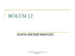 BÖLÜM 12