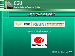 ATUA��O DA CGU