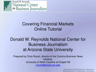 Covering Financial Markets Online Tutorial