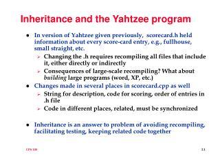Inheritance and the Yahtzee program