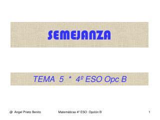 TEMA  5  *  4º ESO Opc B