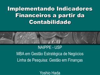 Implementando Indicadores  Financeiros a partir da  Contabilidade