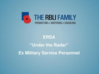 ERSA  Under the Radar  Ex Military Service Personnel