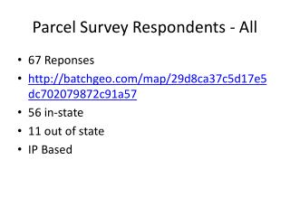 Parcel Survey Respondents - All