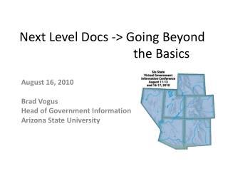 Next Level Docs -> Going Beyond the Basics