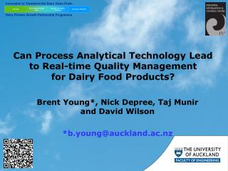 Can Process Analytical Technology Lead to Real-time Quality Management  for Dairy Food Products?