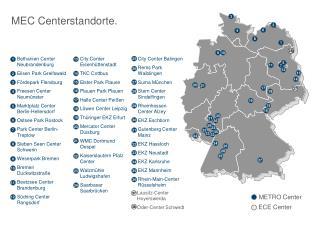 Bethanien Center Neubrandenburg Elisen Park Greifswald Fördepark Flensburg