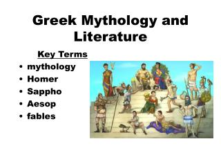 Greek Mythology and Literature