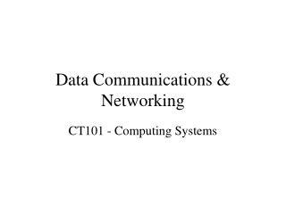 Data Communications & Networking