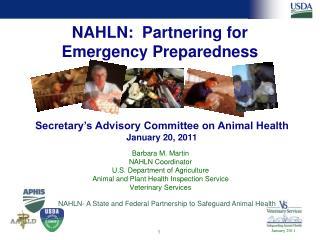 NAHLN:  Partnering for  Emergency Preparedness