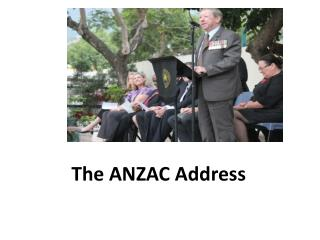 The ANZAC Address