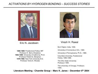 Literature Meeting - Charette Group – Marc K. Janes – December 6 th  2004