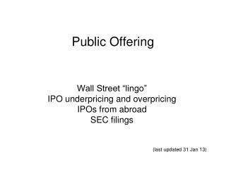 Public Offering