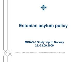 Estonian asylum policy