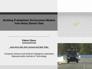 Building Probabilistic Environment Models from Noisy Sensor Data