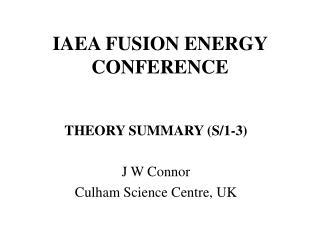 IAEA FUSION ENERGY CONFERENCE