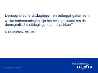 Demografische uitdagingen en beleggingskansen:  welke ondernemingen zijn het best geplaatst om de demografische uitdagin