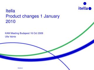 Itella  Product changes 1 January 2010