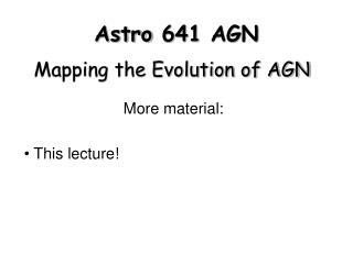 Astro 641 AGN