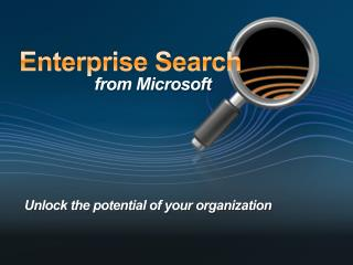 Microsoft Search Server 2008  –  Whats New.