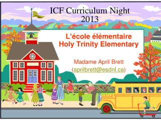 ICF Curriculum Night 2013