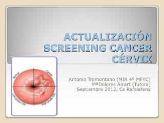 ACTUALIZACIÓN SCREENING CANCER CÉRVIX
