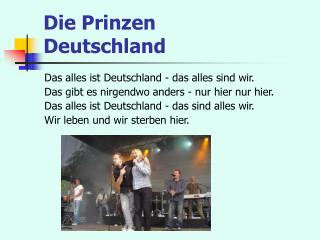 Die Prinzen  Deutschland