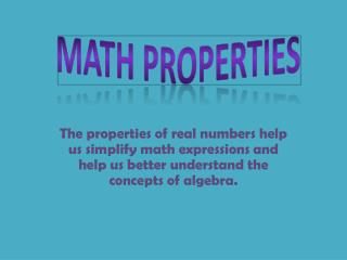 Math Properties