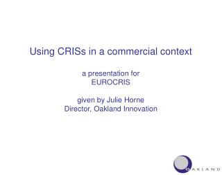 Using CRISs in a commercial context
