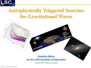 Astrophysically Triggered Searches for Gravitational Waves