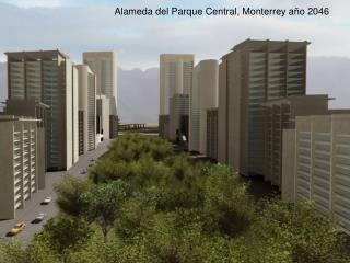 Alameda del Parque Central, Monterrey año 2046