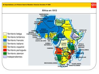 África en 1913