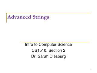 Advanced Strings