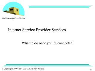 Internet Service Provider Services