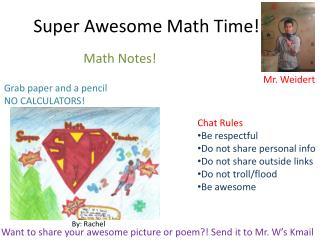 Super Awesome Math Time!