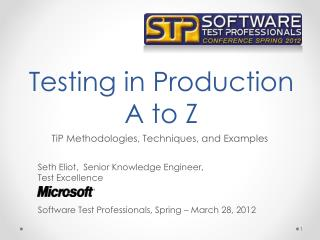 Testing in Production A to Z