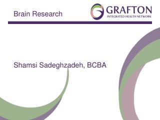 Brain Research Shamsi Sadeghzadeh, BCBA