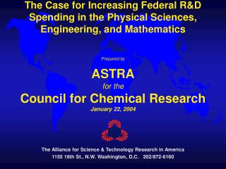 The Alliance for Science & Technology Research in America