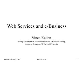 Web Services and e-Business